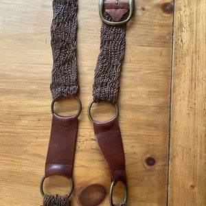 Brown leather Cabi belt